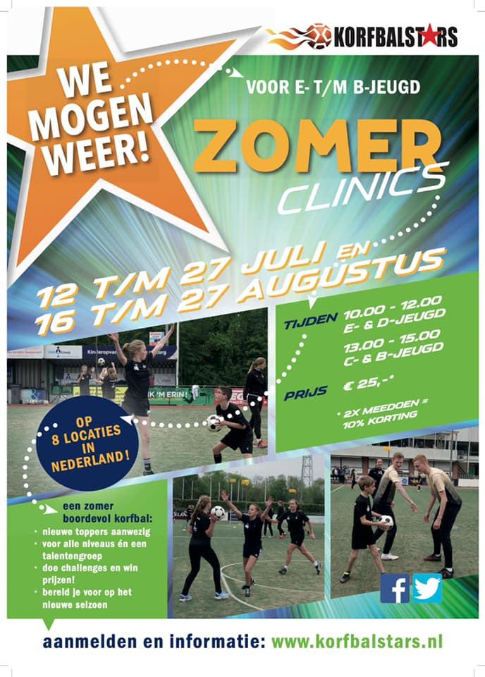 Zomer clinics Korfbalstars